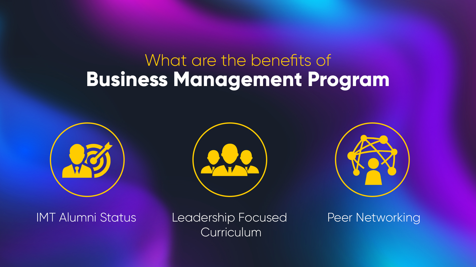 Business Management from IMT Ghaziabad