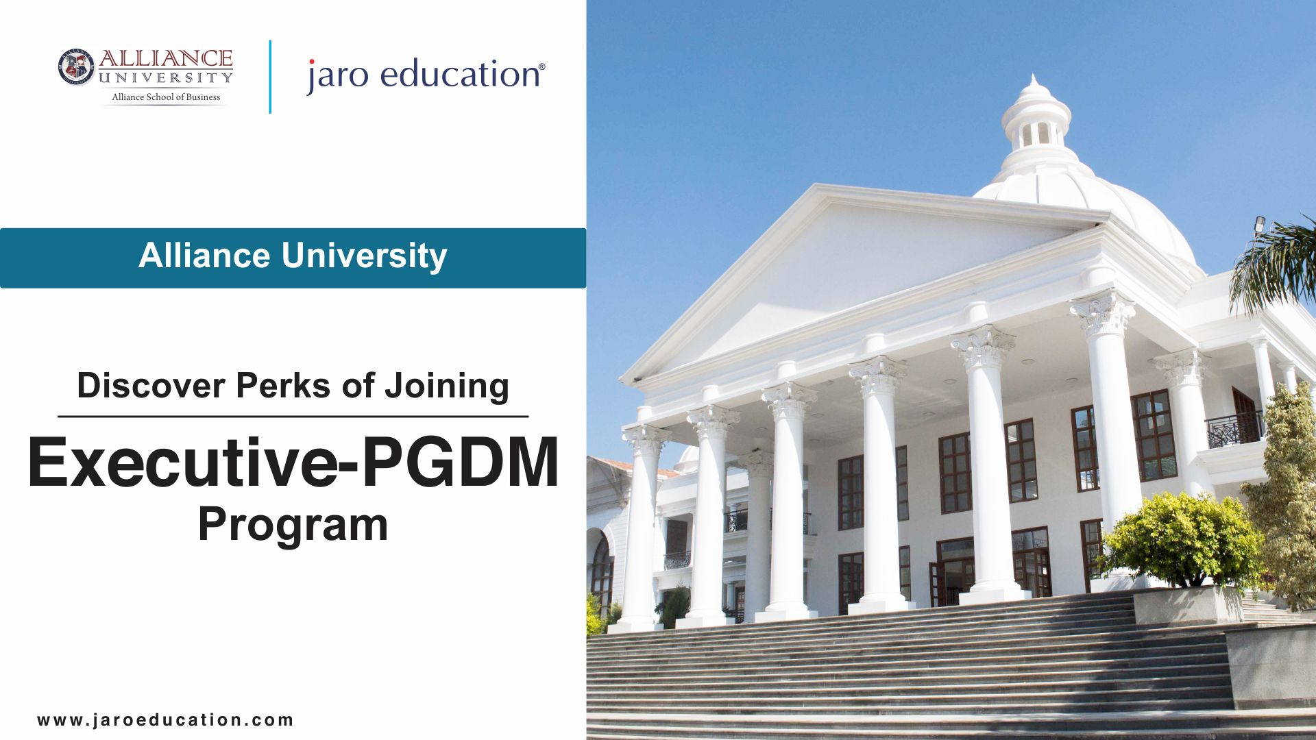 Perks of Executive PGDM from Alliance