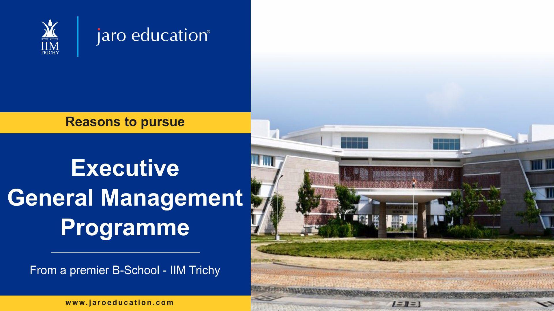 Reasons to pursue EGMP - IIM Trichy