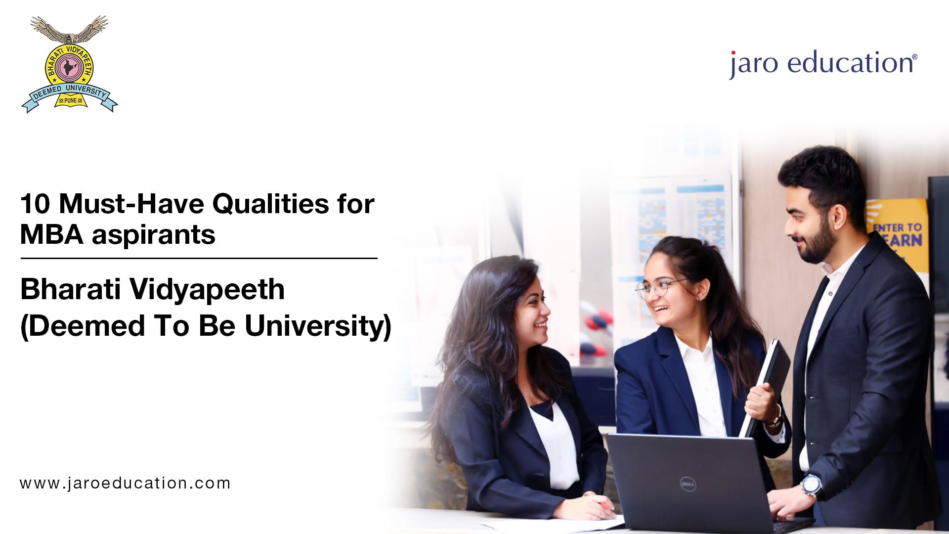 Top 10 qualities in MBA aspirants