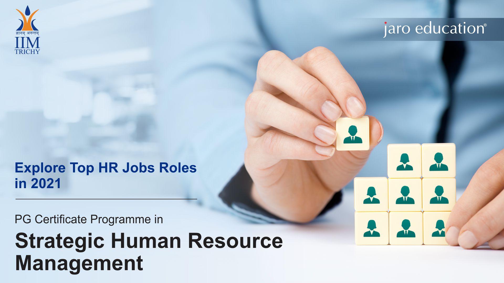 Top job roles in HR 2021