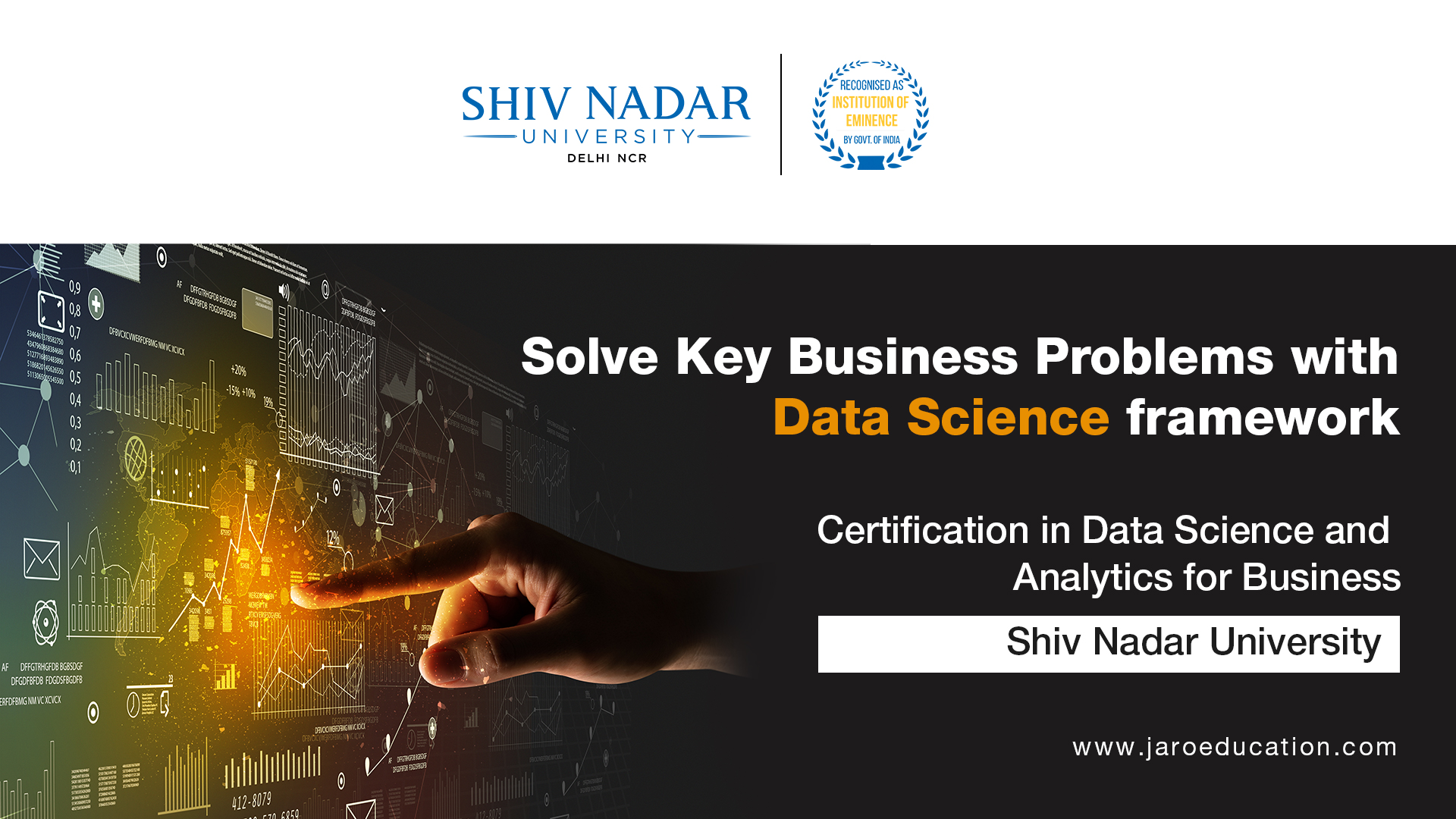 Certificate in Data Science and Analytics for Business - Shiv Nadar University